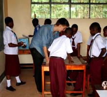 Gemeinsames Lernen in der One World Secondary School.